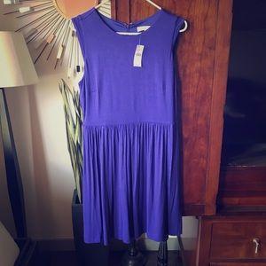 Royal blue (almost purple) cotton dress